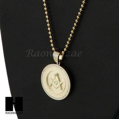Iced Out Sterling Silver .925 AAA Lab Diamond Freemason 2.5mm Moon Cut Chain S03 - Raonhazae