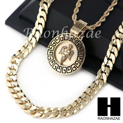 "ANGEL ROUND ROPE CHAIN DIAMOND CUT 30"" CUBAN LINK CHAIN NECKLACE S014 - Raonhazae"