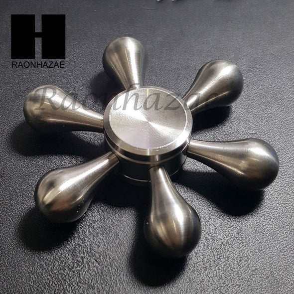 Stainless Steel High Speed Hand Spinner Stress Reliever Brass Adult Finger Toy - Raonhazae