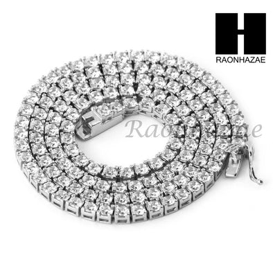 ".925 STERLING SILVER TENNIS CHAIN DIAMOND CUT 24"" 30"" LINK CHOKER NECKLACE L03 - Raonhazae"