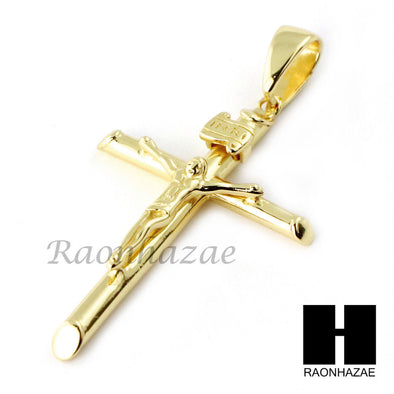 Sterling Silver .925 Jesus of Nazareth Cross w/ 2.5mm Moon Chain SS016 - Raonhazae