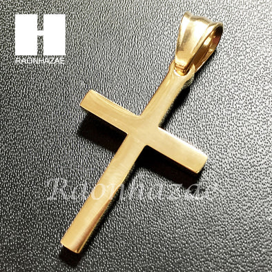 Mens 316L Stainless steel Gold Silver Jesus Cross Small Pendant SS011 - Raonhazae