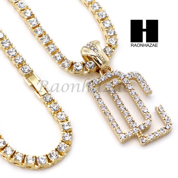 "14K GOLD PT DREAM CHASERS MIAMI CUBAN 16""~30"" CHOKER TENNIS CHAIN S029 - Raonhazae"