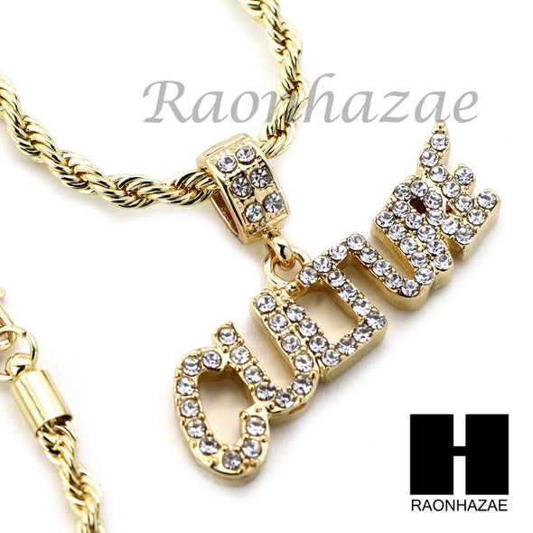 "MIGOS CULTURE 2 CHARM DIAMOND CUT 30"" CUBAN CHAIN NECKLACE SET G22 - Raonhazae"