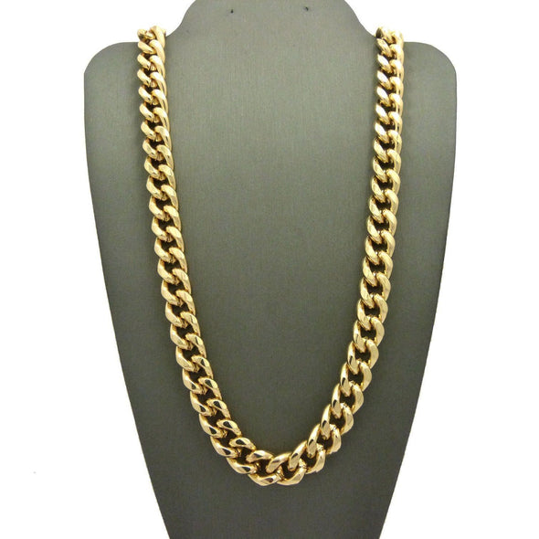 "Men 80's Hip Hop Rapper Style 10mm 30"",36"" Cuban Link Chain Necklace N0082M - Raonhazae"
