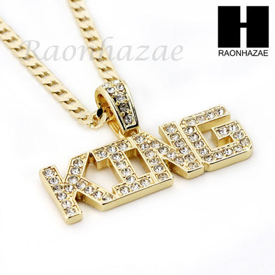 "RUBY KING PENDANT 24"" 30"" CUBAN LINK ROPE CUBAN CHAIN NECKLACE SET D012 - Raonhazae"