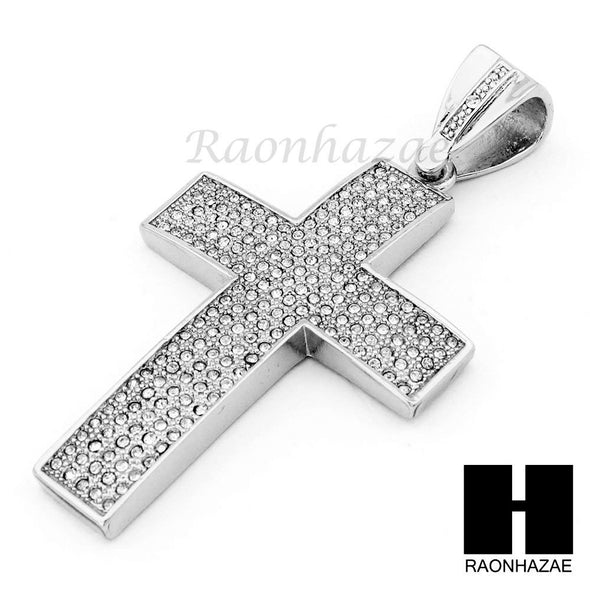 "Hip Hop Cross Pendant 16"" Choker 18"" Tennis 30"" Miami Cuban Chain 21S - Raonhazae"