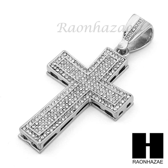 "Hip Hop Cross Pendant 16"" Choker 18"" Tennis 30"" Miami Cuban Chain 15S - Raonhazae"