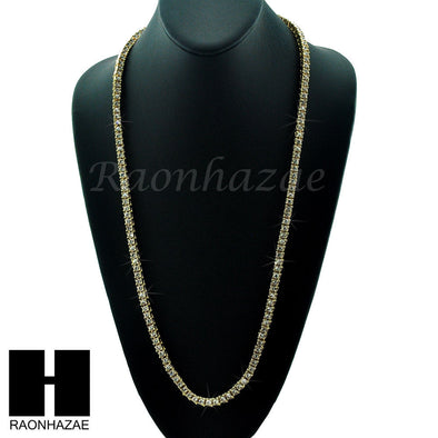HIP HOP MIGOS RICK ROSS SIMULATED CLEAR DIAMOND TENNIS CHAIN NECKLACE - Raonhazae