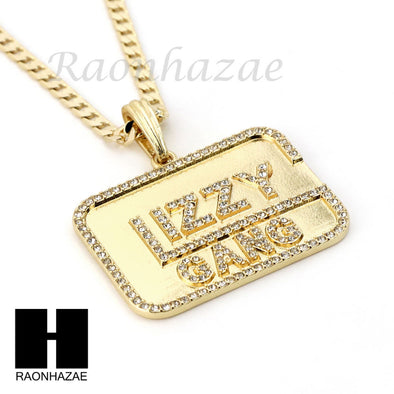 "RUBY GLIZZY GANG PENDANT 24"" 30"" CUBAN LINK ROPE CUBAN NECKLACE SET D14 - Raonhazae"