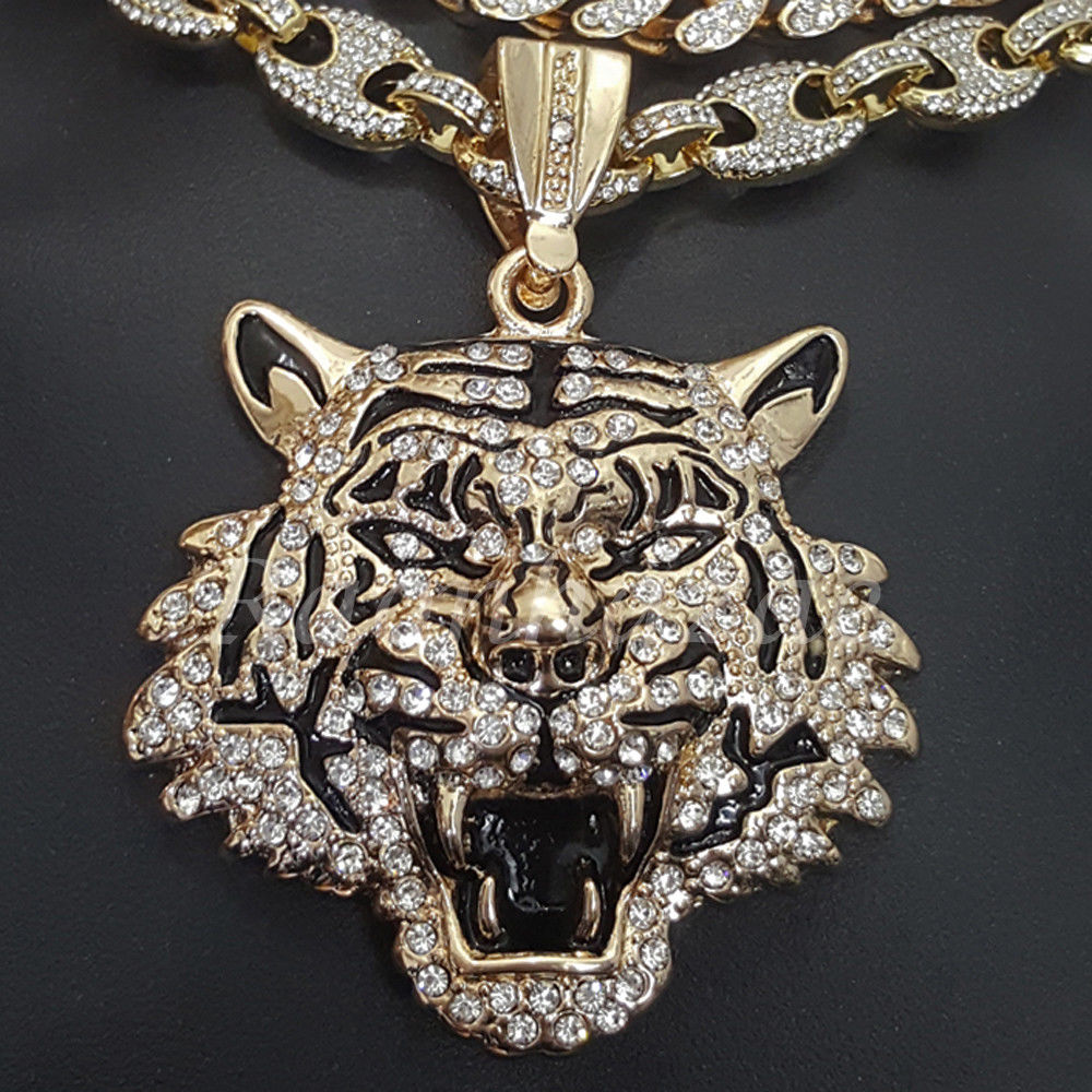 Iced out anchor tiger pendant 16 iced out choker 18 puffed gucci iced out anchor tiger pendant 16 iced out choker 18 puffed gucci chain set g57 mozeypictures Gallery