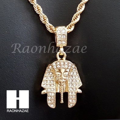 "MEN ICED OUT KING TUT ROPE CHAIN DIAMOND CUT 30"" CUBAN LINK CHAIN NECKLACE S068 - Raonhazae"