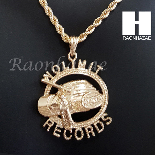 "ICED OUT NO LIMIT RECORDS CHAIN DIAMOND CUT 30"" CUBAN LINK CHAIN NECKLACE S073S - Raonhazae"
