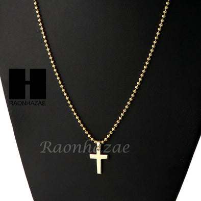 Sterling Silver .925 Christian Micro Cross w/ 2.5mm Moon Chain SS014 - Raonhazae