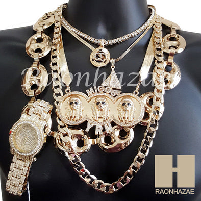 Watch Yachty QC MIGOS Herringbone Hollow Gucci Miami Cuban Chain Set 1 - Raonhazae