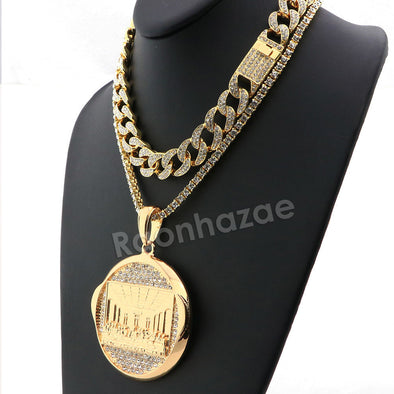 Hip Hop Iced Out Quavo Last Supper Miami Cuban Choker Chain Tennis Necklace L28 - Raonhazae