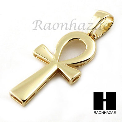 Sterling Silver .925 Egyptian Mini ANKH Cross 2.5mm Moon Chain12 - Raonhazae