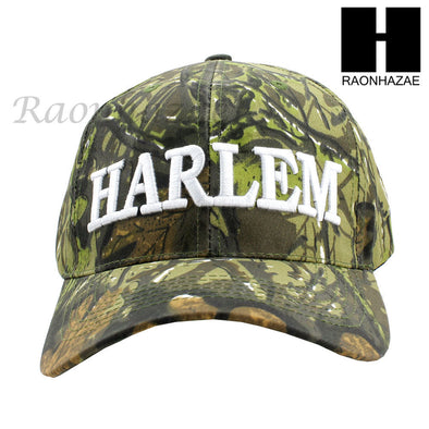 Men Women Unisex Harlem New York Camouflage Baseball Cap hat Adjustable Cap C02 - Raonhazae