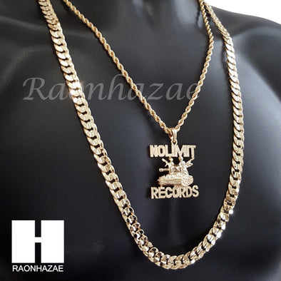"NO LIMIT RECORDS CHAIN DIAMOND CUT 30"" CUBAN LINK CHAIN NECKLACE S072S - Raonhazae"