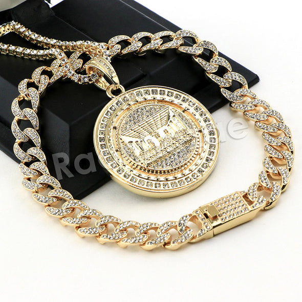 Hip Hop Quavo Last Supper Miami Cuban Choker Chain Tennis Necklace L51 - Raonhazae
