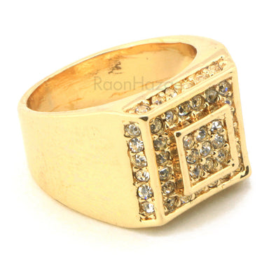"HIP HOP SOLID ""POST MALONE CONGRATULATIONS"" GOLD PLATED RING BK007G - Raonhazae"