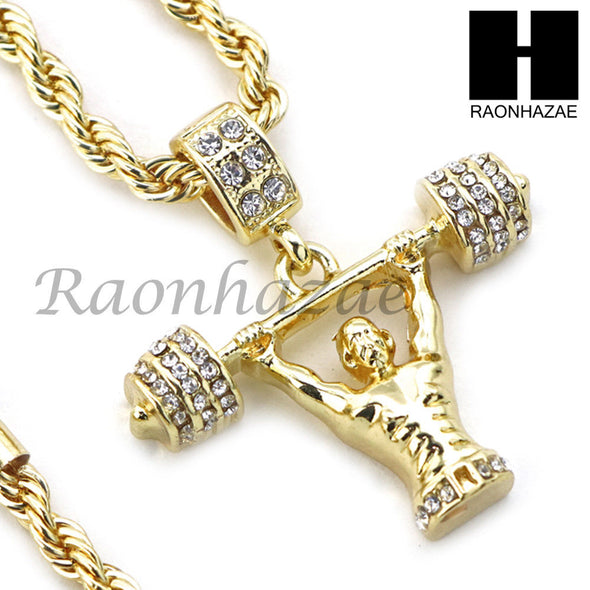 "21 SAVAGE LIFTING CHARM DIAMOND CUT 30"" CUBAN CHAIN NECKLACE SET G18 - Raonhazae"