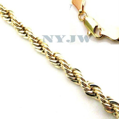 "NEW MEN'S 5mm, 8"" 14k YELLOW GOLD PT ROPE BRACELET - Raonhazae"