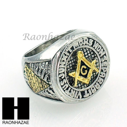 US SELLER NEW HOT MENS FREEMASON MASONIC PYRAMID EYE OF HORUS RING KR001S - Raonhazae