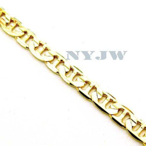 "NEW MEN'S 7mm, 8"" 14k YELLOW GOLD PT MARINER BRACELET - Raonhazae"
