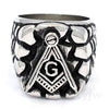 MENS STAINLESS STEEL SILVER TN. FREE MASON MASONIC RING USA SELLER RM101S - Raonhazae