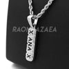 "14k Silver Xanax Pendant W/ 4mm 24"" Rope Chain / 4mm 18"" Franco Chain - Raonhazae"