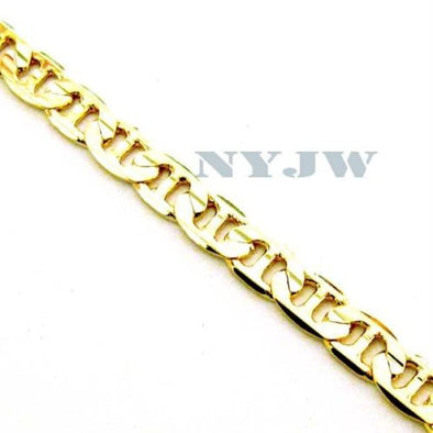 "NEW MEN'S 4mm, 8"" 14k YELLOW GOLD PT MARINER BRACELET - Raonhazae"