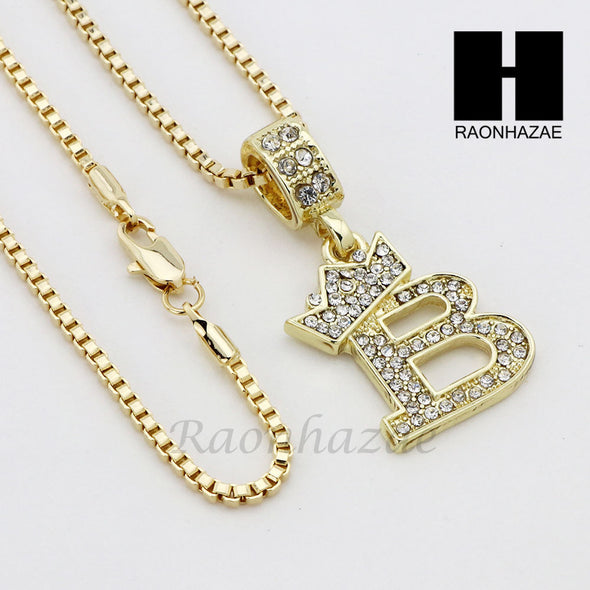 "RUBY KING 'B' PLUG PENDANT 24"" 30"" ROPE BOX CUBAN CHAIN NECKLACE SET 10 - Raonhazae"