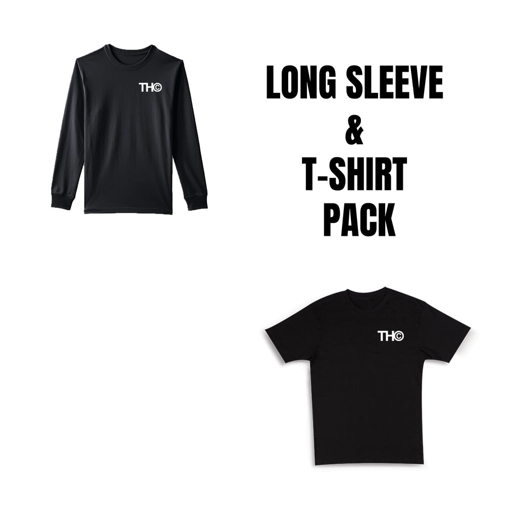 THC Logo Long Sleeve + T Shirt Pack