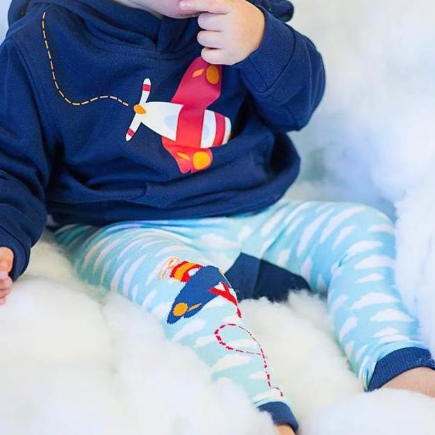 Red Airplane Cloud Cotton Legging - Avenue Petit Lou