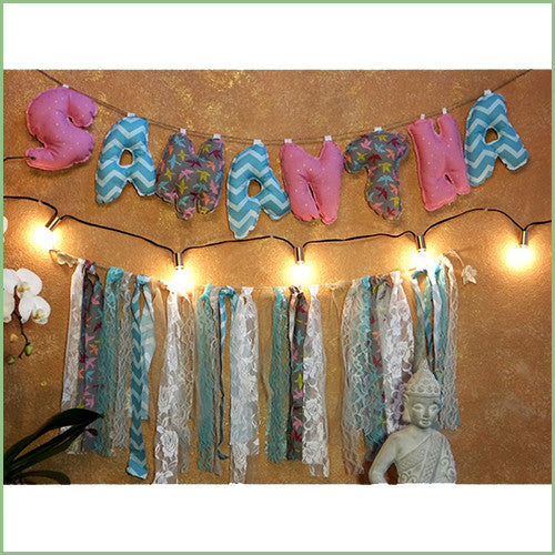 Deco Fabric Letters