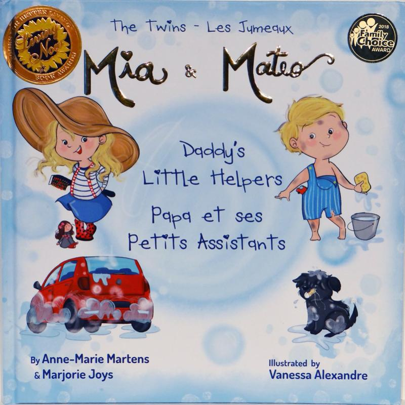 The Twins Mia & Mateo Daddy's Little Helpers | Avenue Petit Lou