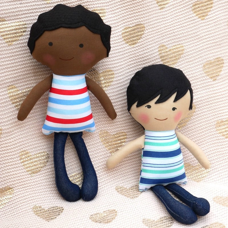 African American Ben Boy Doll  - One of a Kind | Avenue Petit Lou