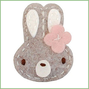 Brown Bunny Hair Clips for Babies | Avenue Petit Lou