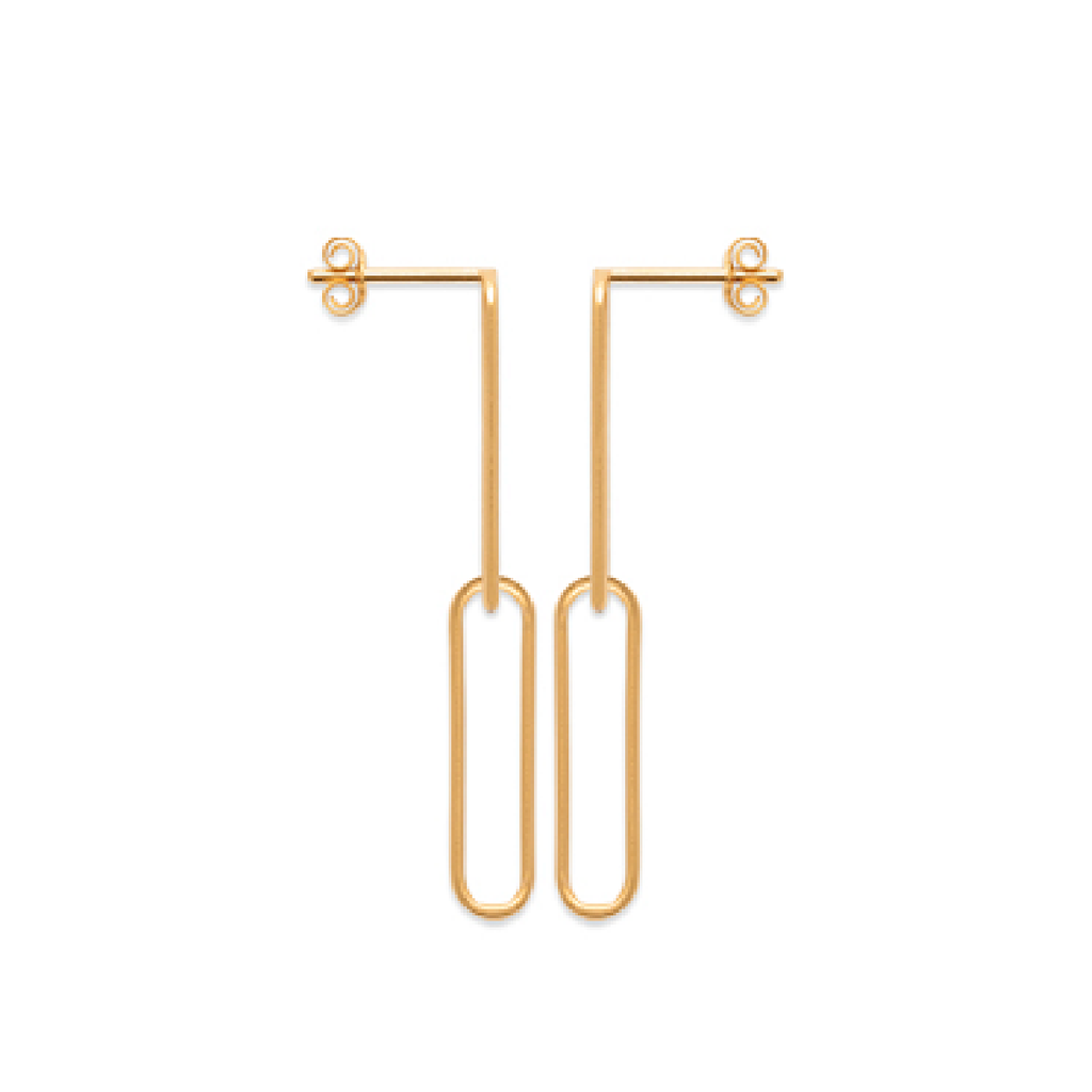 Piper Two 18K Gold Plated Earrings | Avenue Petit Lou