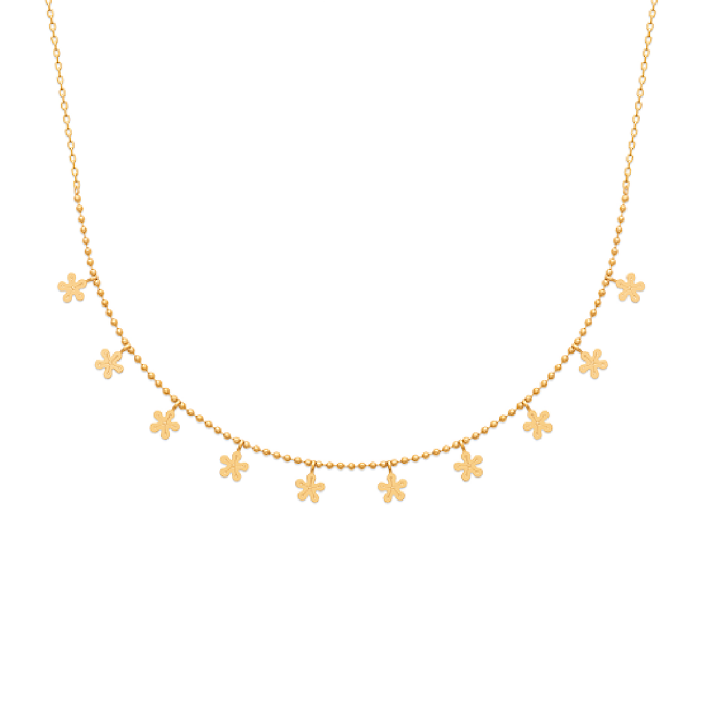 Flore 18K Gold Plated Necklace