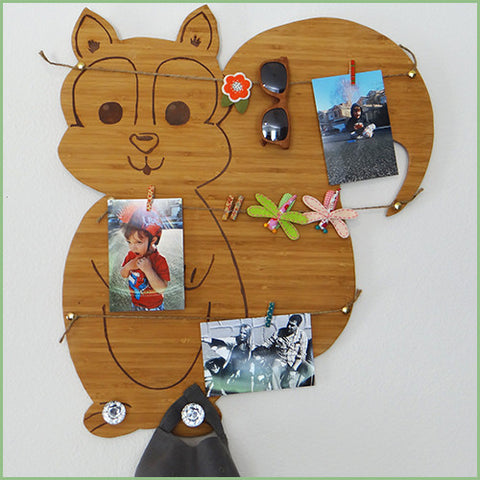 Bamboo Woodland Decor - Squirrel