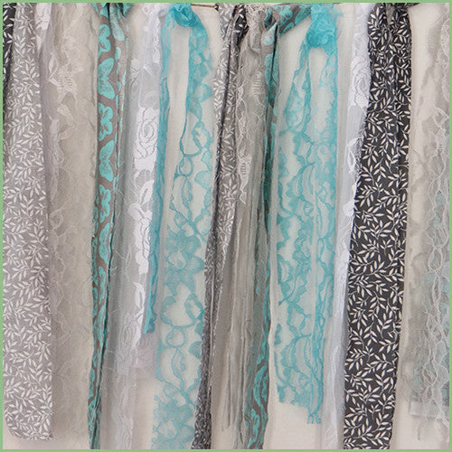 Decorative Garlands - Aqua/Grey