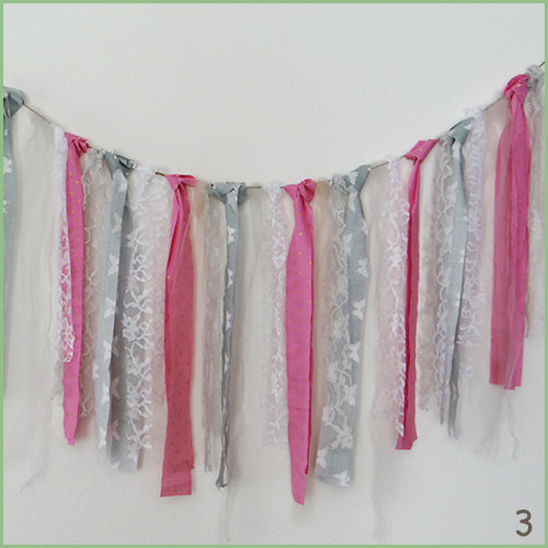 Decorative Garlands - Pink/Grey