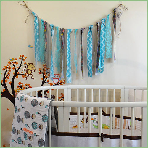 Decorative Garlands - Aqua/Grey | Avenue Petit Lou