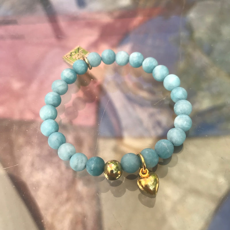 Stretch CHARM Bracelets - Golden Hearts | Avenue Petit Lou