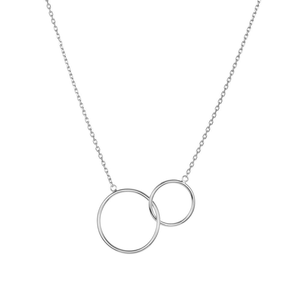 Lola Mother Daughter .925 Sterling Silver Plated Rhodium Necklace | Avenue Petit Lou