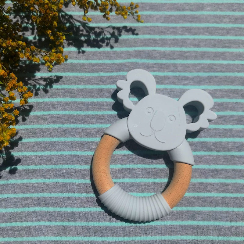 Koala Silicone Wood Teether - Avenue Petit Lou