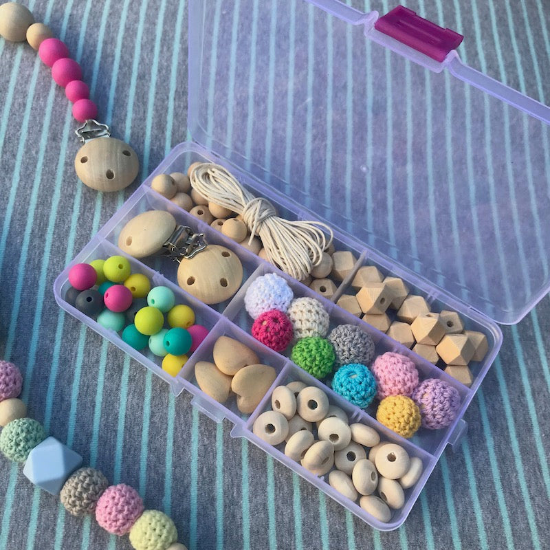 DIY Teething Pacifier Clip - Mixed Color Kit