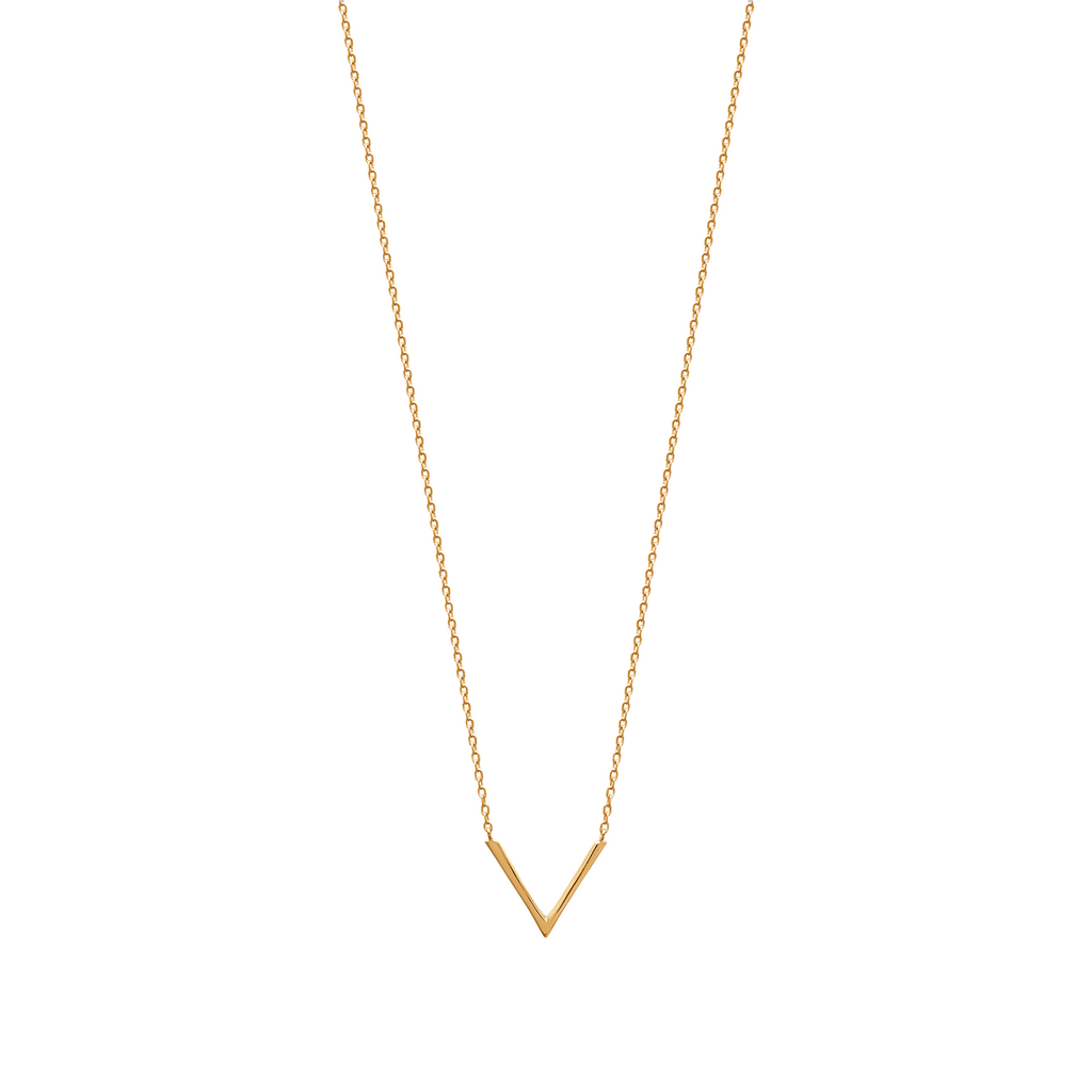 Aria 18K Gold Plated V Necklace | Avenue Petit Lou